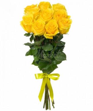 11 жёлтых роз